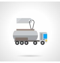 Liquid transportation cost flat color icon vector