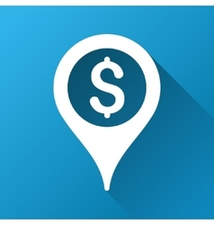 Bank map marker gradient square icon vector
