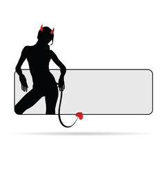 Girl devil sensual silhouette vector