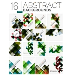 Collection of abstract backgrounds vector