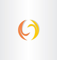 Fire flame letter s logo icon vector