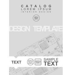 Architectural flyer or cover template vector