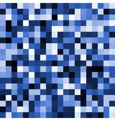 Abstract blue pixel background vector image