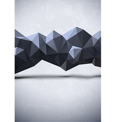 Abstract polygonal line vector image