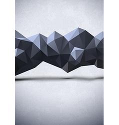 Abstract polygonal line vector image
