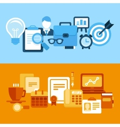 business and managementin flat style vector image