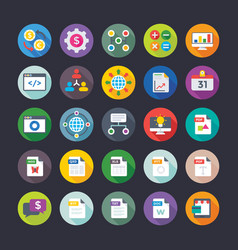 Business and office icons 3 vector