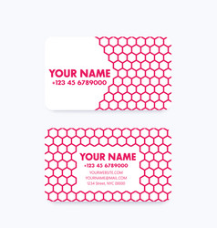 Business card design with geometric pattern vector