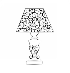 Classic lamp with ornaments vector image