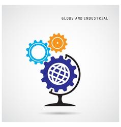 Creative gear abstract logo design vector