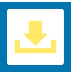 Download flat yellow and white colors rounded vector