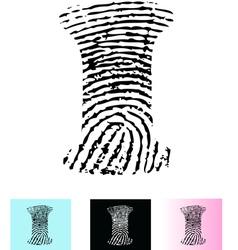 Fingerprint Alphabet Letter I vector image vector image