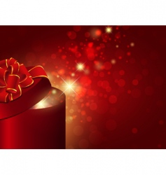 gift box with red bow vector image vector image