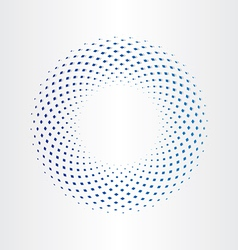 halftone circle with squares vector image