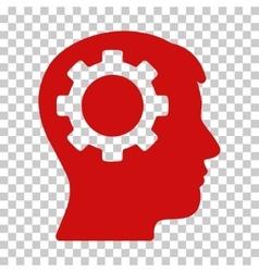Intellect gear icon vector