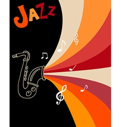 Jazz festival poster template vector image vector image