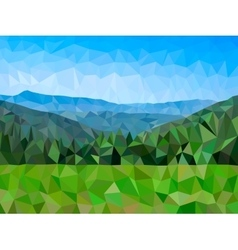 Low poly mountains vector image