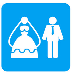 marriage persons rounded square icon vector image