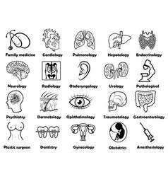 medical sciences set vector image vector image