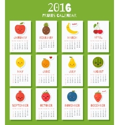 Modern calendar for new 2016 year with funny vector