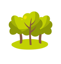 natural trees with branches to ecology care vector image vector image