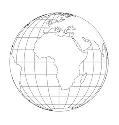 World Map Angular Outline Royalty Free Vector Image - Earth map outline