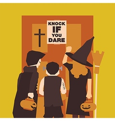 Poster Flat banner or background for Halloween vector image vector image