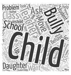 School Bully Word Cloud Concept vector image vector image