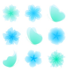 set of nature design elements vector image vector image