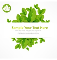 Spring banner text vector image vector image