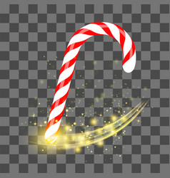 Sweet striped candy cane vector