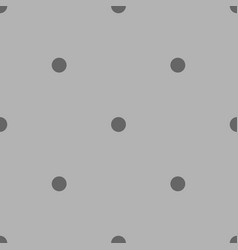 Tile pattern with grey polka dots on background vector