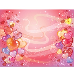 Valentins day background with balloons vector