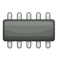 Weak microprocessor icon cartoon style vector