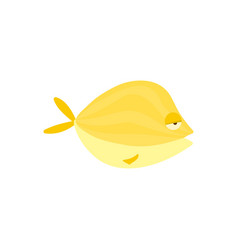 yellow reef fish cartoon vector image