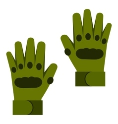 Pair of paintball gloves icon flat style vector