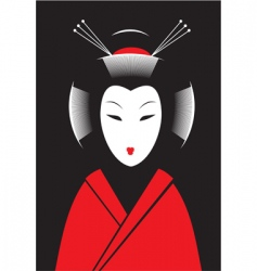 japanese woman vector image