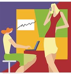 Women in the office vector