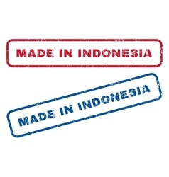 Made in indonesia rubber stamps vector