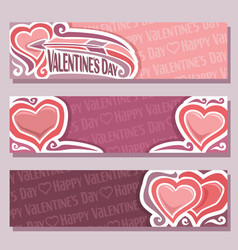 Banners for happy valentines day vector