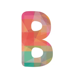 Colorful alphabet b vector