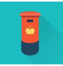 British mail box vector