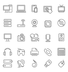 Technology and Electronics Icons vector image