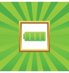 Full battery picture icon vector