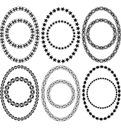 Oval and circle decorative frames vector