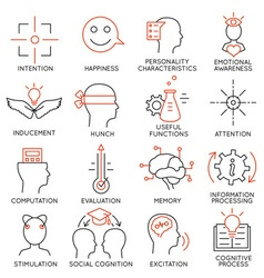 Set of icons related to business management - 22 vector