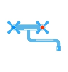 Dripping tap drop water faucet vector