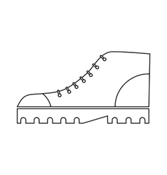 Boot icon in outline style vector