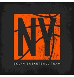 New York t-shirt emblem vector image