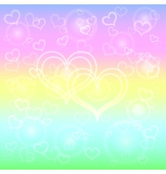 Abstract pastel background with hearts vector